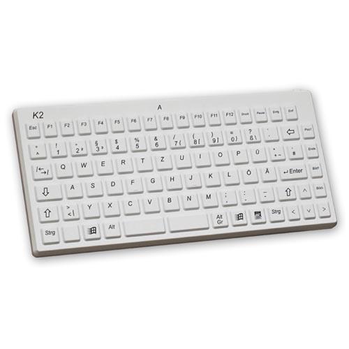 Stöttåligt kompakt tangentbord för vården