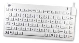 Litet och kompakt tangentbord för vården i latex-fri silikon