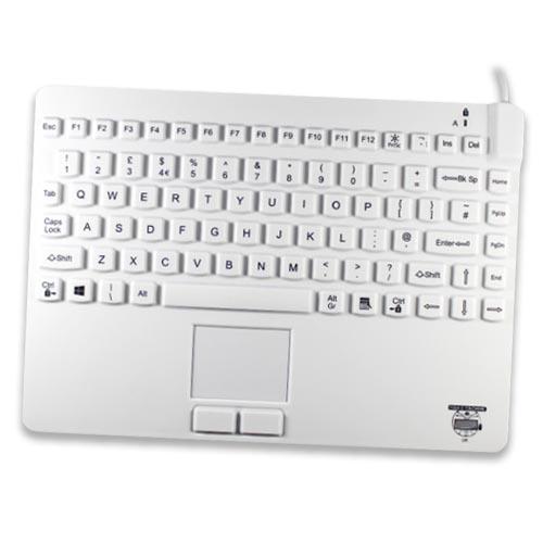 Kompakt tangentbord i latex-fri silikon