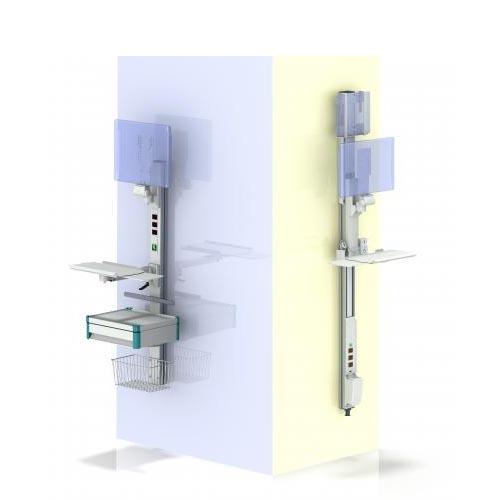 Väggupphängd arbetsstation för vården modul-port från ITD