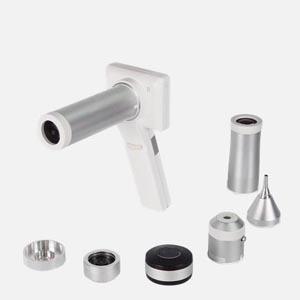 Diagnostiska instrument för öra, näsa, hals, hud och ögon.